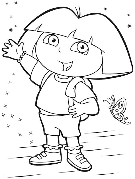 free coloring pictures dora explorer free dora the explorer coloring pages coloring home