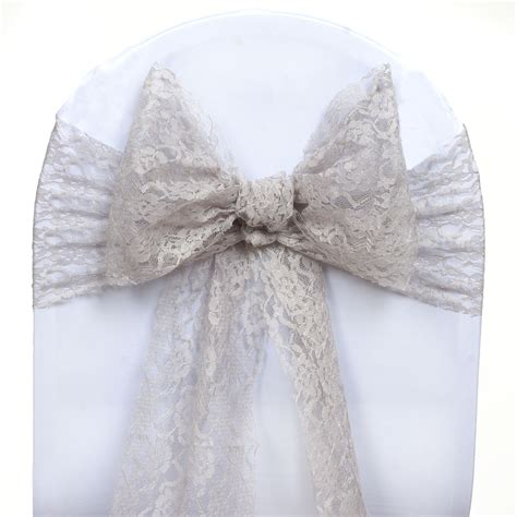 Lace Chair Sashes by 100 Wedding Lace Chair Sashes Bows Ties Reception