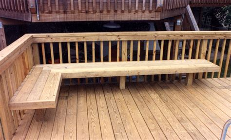 built in benches on decks built in deck seating as railing google search new