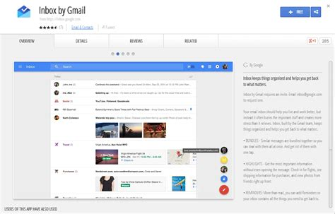 chrome web store android inbox by gmail shows up in chrome web store talkandroid com