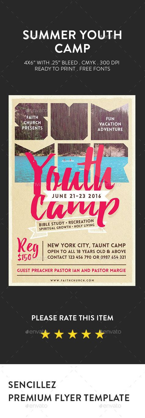 youth flyer template free summer youth c flyer summer youth youth c and youth