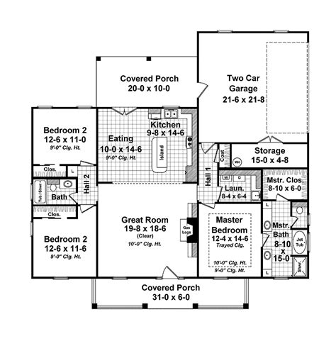 small country with open floor plan house
