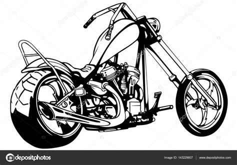 Motorrad Chopper Arten by Flaming Bike Chopper Ride Front View Eps 10 Vector