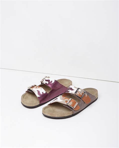 marant sandals lyst 201 toile marant gail cut out calfskin