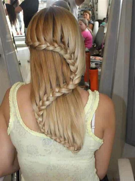waterfall braid wedding hair step by step perfect bridal party hair jillian grace salon west