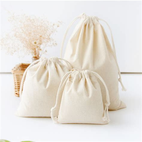 Handmade Pouches Bags - travel drawstring storage bags sundries small beam rope