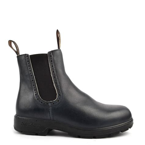 blundstone 1441 punch navy leather boot at brand boudoir