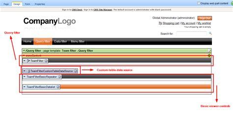 kentico layout web part custom filter development with kentico cms