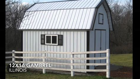 12x16 gambrel shed plans from icreatablestv