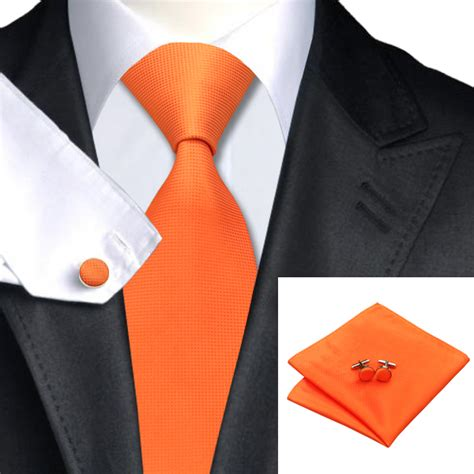 Tie Solid Fashion Tootal 2015 fashion orange solid tie hanky cufflink silk jacquard
