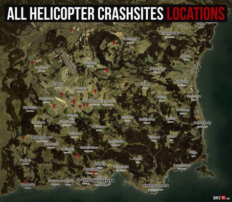 dayz sa map where to find helicopter crashsites dayz standalone dayz tv