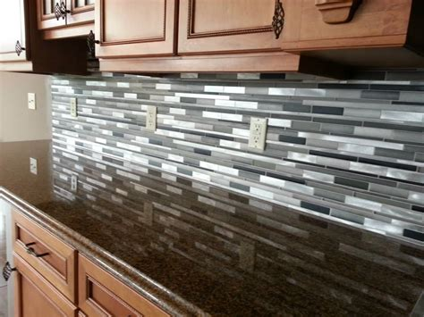 how to install a mosaic tile backsplash in the kitchen stainless steel tile backsplash stainless steel 1