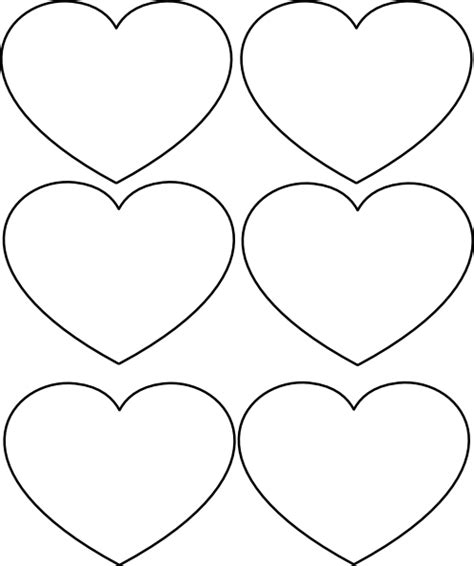 printable valentine heart shapes best photos of printable heart shapes cutouts printable