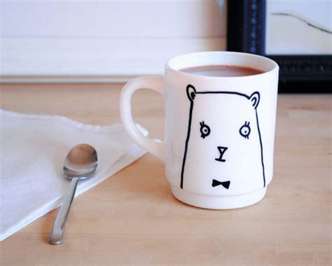 design mugs diy diy gift series bear mug design sponge