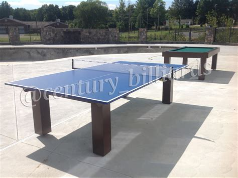 custom ping pong tables from century billiards
