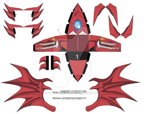 Yugioh Papercraft - slifer yu gi oh cubee by animepapertoys on deviantart