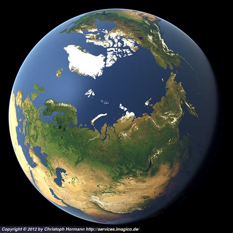 Whole Earth View Focusing On Siberia And The North Pole Where Is The Arctic Earth Coloring Page
