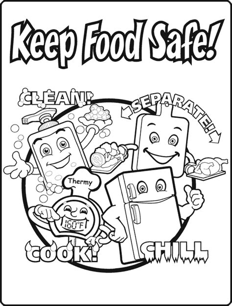 Food Safety Coloring Pages the gallery for gt safety word search