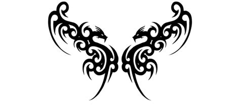 twin dragon tattoo designs tribal designs tribal wings