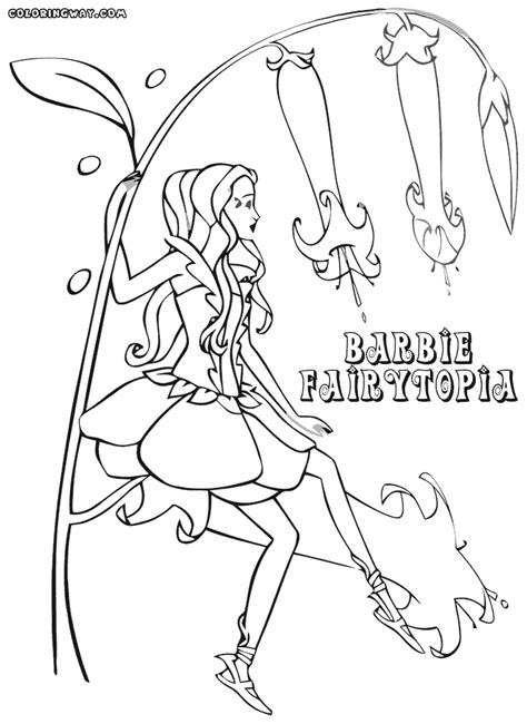 barbie fairytopia coloring pages coloring pages to