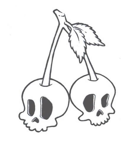 cherry skull tattoo designs skull cherry by zombiegurl81 on deviantart