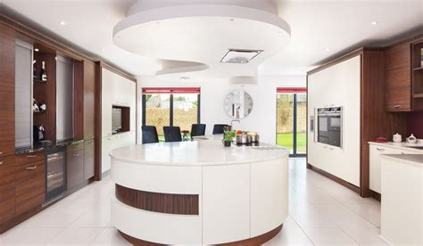 Kitchens International Ex Display by And Timber Kitchen With Curved Island Stoneham