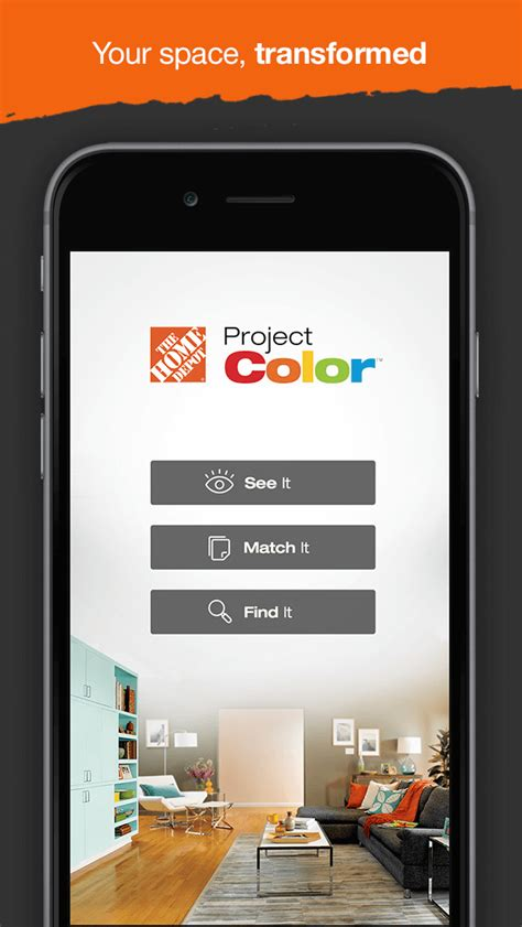 home depot paint color match app project color by the home depot apps 148apps