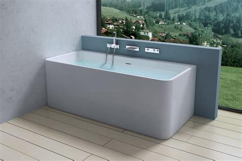 Modern Bathroom Tub by Aquasoak Square Luxury Modern Wall Mount Bath Tub Acrylic