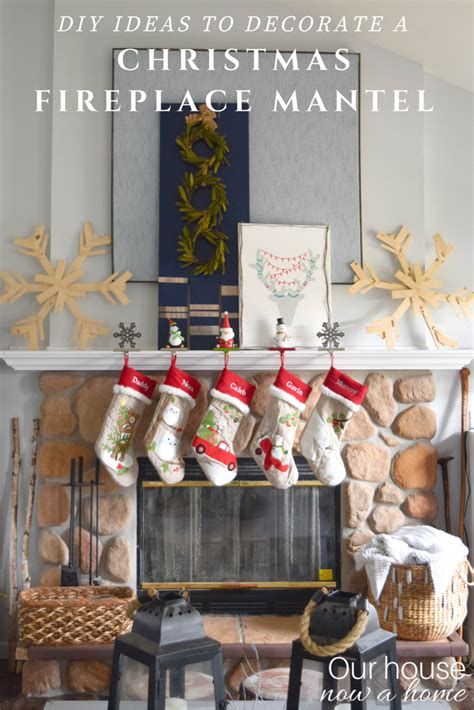 how to decorate our home diy ideas to decorate a christmas fireplace mantel our