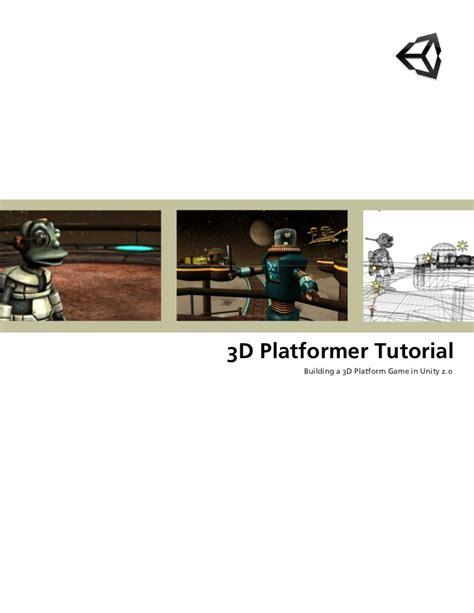 tutorial unity platform game 3 d platformtutorial unity