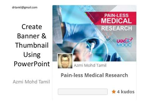 design banner using powerpoint create banner thumbnail using powerpoint