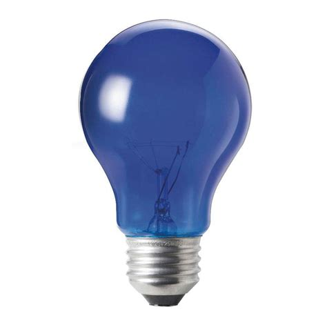 Blue Led Light Bulbs Philips Autism Speaks 25 Watt Incandescent A19 Transparent Light Bulb Blue 6 Pack 427567