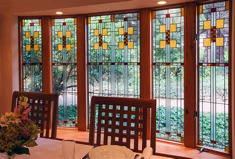 House Design Bay Windows by Frank Lloyd Wright Inspired Stained Glass Pompei Stained
