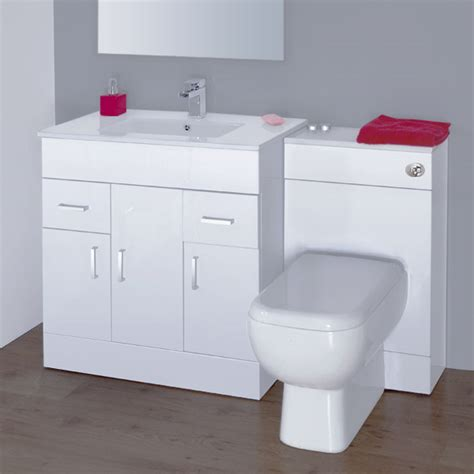 White Gloss Bathroom Vanity Unit by Modena High Gloss White Vanity Unit Bathroom Suite W1500 X