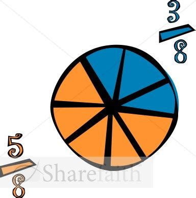 fraction clipart fractions cliparts