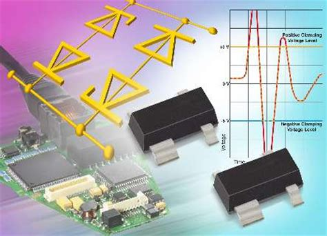 diode array protection vishay s new diode array offers bidirectional esd protection and space savings with low 5 pf