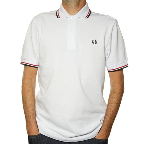 Polo Shirt Fred Perry buy fred perry slim fit polo shirt in white fred perry