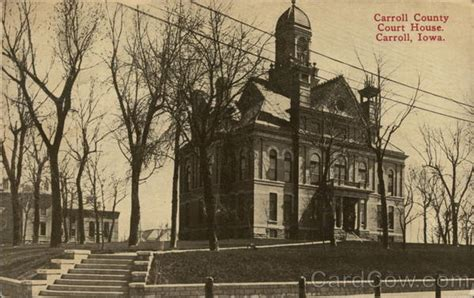 Carroll County Court Search Carroll County Court House Postcard