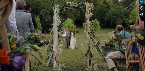 rustic outdoor wedding in south west