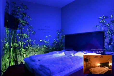 glow in the paint in room glowing murals turn your room into a dreamy world when the