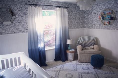 Trendy Ombre Curtains In Cold Warm And Neutral Hues Navy Blue Curtains For Nursery