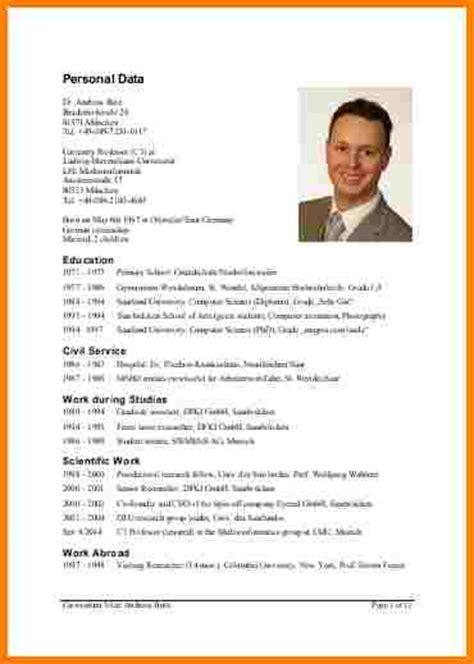 Tabellarischer Lebenslauf Uni Vorlage 11 Tabellarischer Lebenslauf Uni Resignation Format