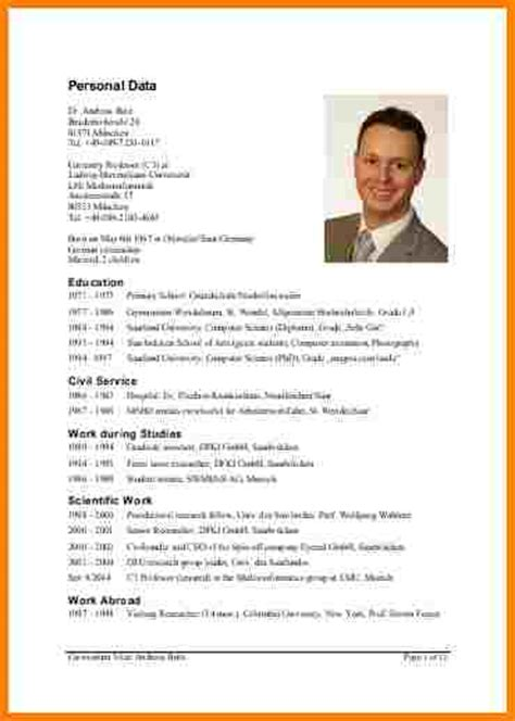 Lebenslauf Muster Uni 11 tabellarischer lebenslauf uni resignation format