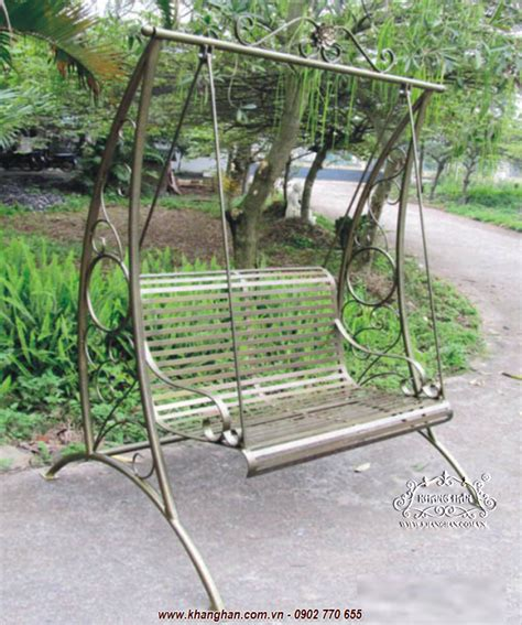 Swinging An Iron artistic wrought iron swing suitable for garden