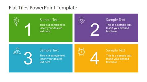 Four Quadrants Flat Tiles Slidemodel What Is A Template In Powerpoint