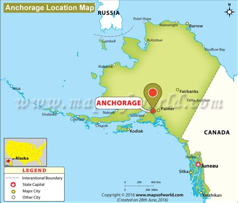 anchorage alaska us map where is anchorage located in alaska usa