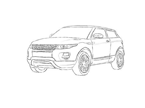 range rover evoque drawing how to draw a range rover