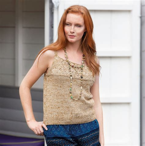 knitted camisole top free camisole top knitting pattern knitting bee