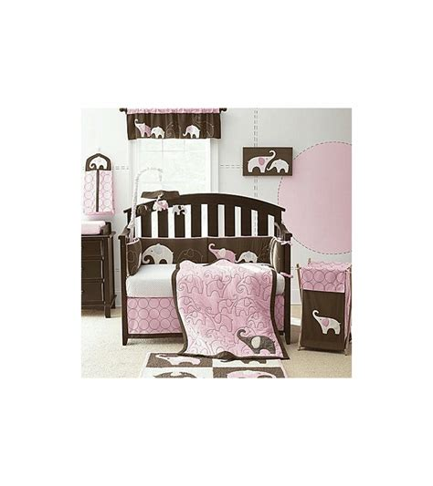 Pink Elephant Crib Bedding S Elephant Pink 4 Crib Bedding Set