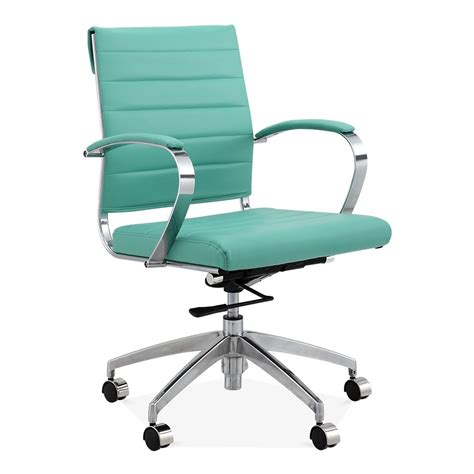 cult living deluxe turquoise office chair eames inspired